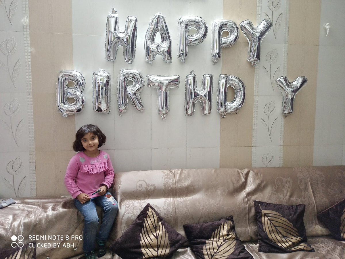 I just asked her where is the missing A from birthday, she bluntly replied You Are A, A for Abhishek, naughty bacha naughty answers always  Wish this freedom which she is enjoying, of words, of thoughts, of everything #poseoftheday #thursdayvibes  #daughtersareblessing  #ambalapic.twitter.com/UdqGv5cZGK