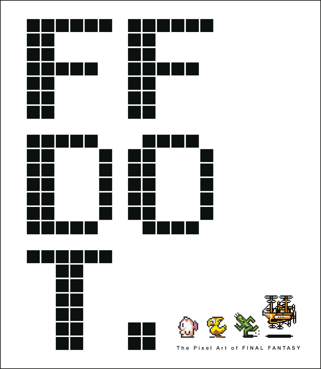 Just released- FF DOT: The Pixel Art of Final Fantasy, a 280-page book of sprite sheets and art prints of Final Fantasys classic pixel art. Also contains developer interviews. Currently a 33% off, to $16: amzn.to/2Smdpnq