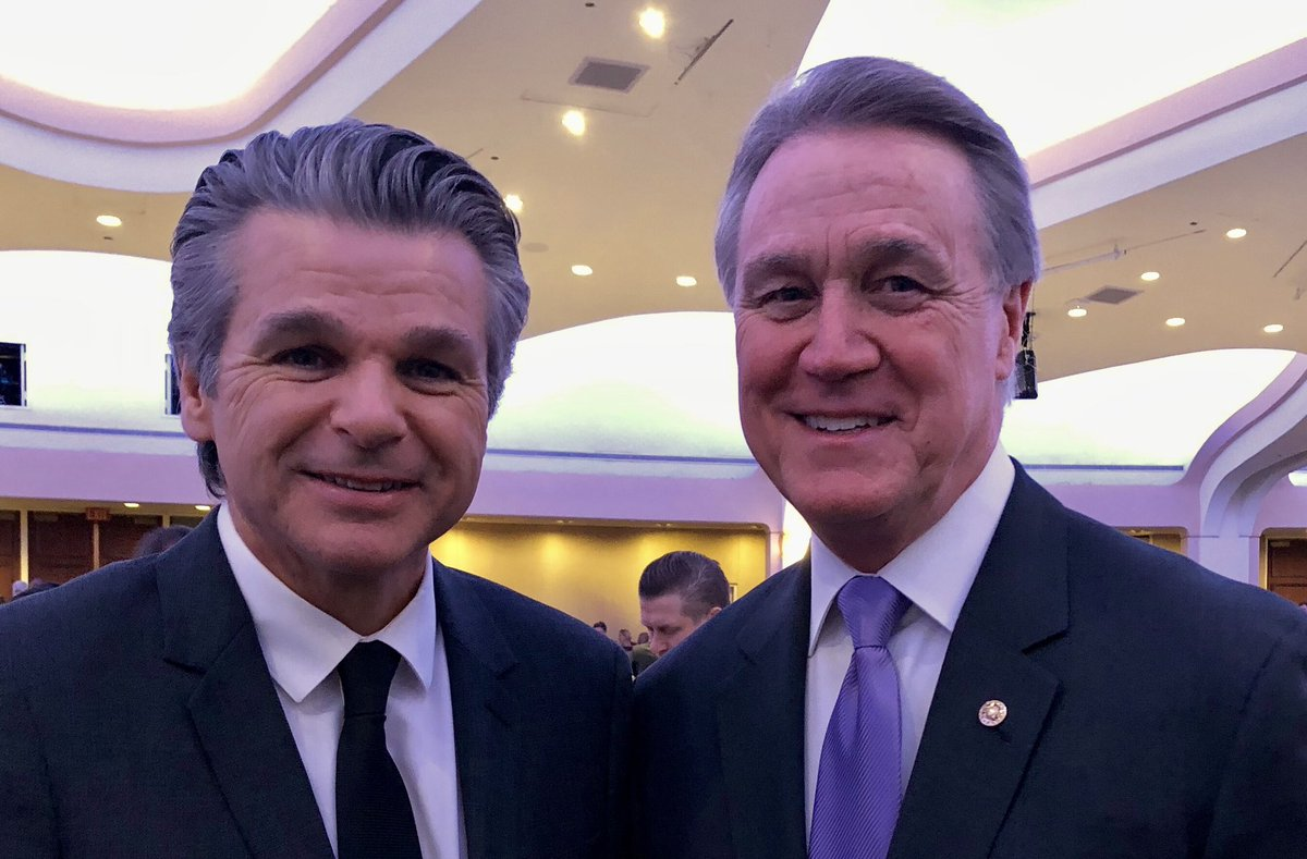 Honored to have a great Georgian, Pastor Jentezen Franklin, as my guest to the National Prayer Breakfast.