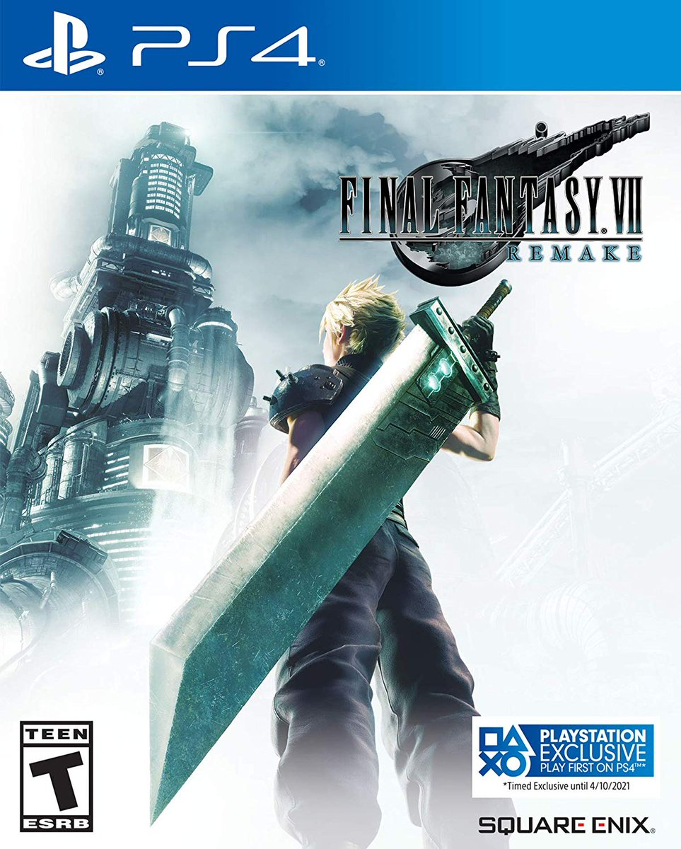 ICYMI, Final Fantasy VII Remake now has an updated box art indicating the updated, post-delay PS exclusivity period: amzn.to/2S4INrn