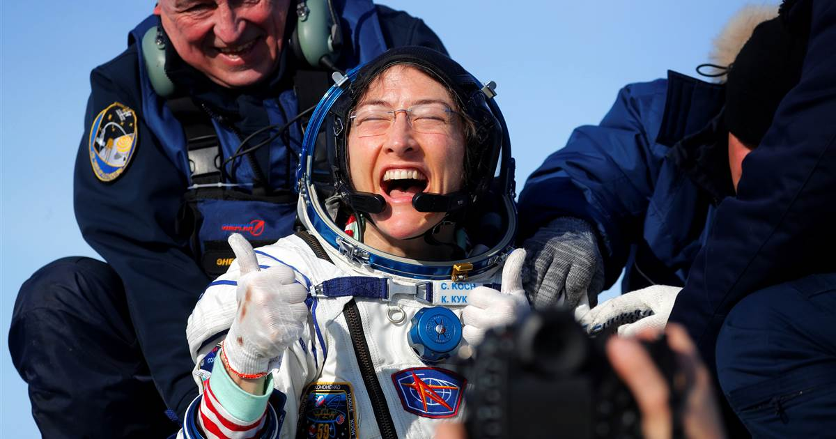 BREAKING: NASA astronaut Christina Koch returns to Earth, setting new spaceflight record. https://nbcnews.to/36XdvHi
