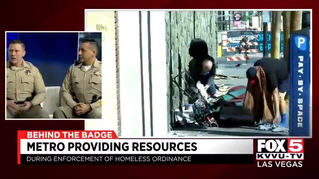 BEHIND THE BADGE: @LVMPD discusses homeless ordinance enforcement. Thanks to @HendersonChev for sponsoring Behind the Badge.