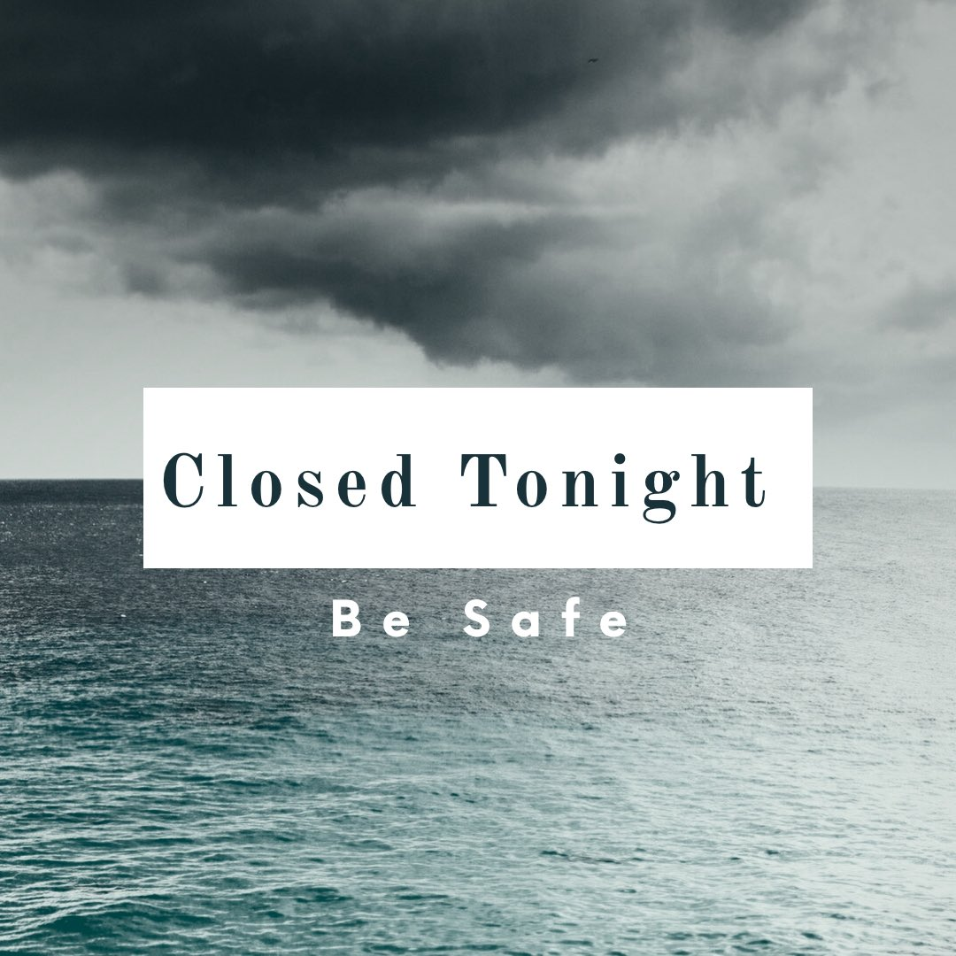 A storm ⛈ is a brewing! We will be back to the grind tomorrow! #besafe
