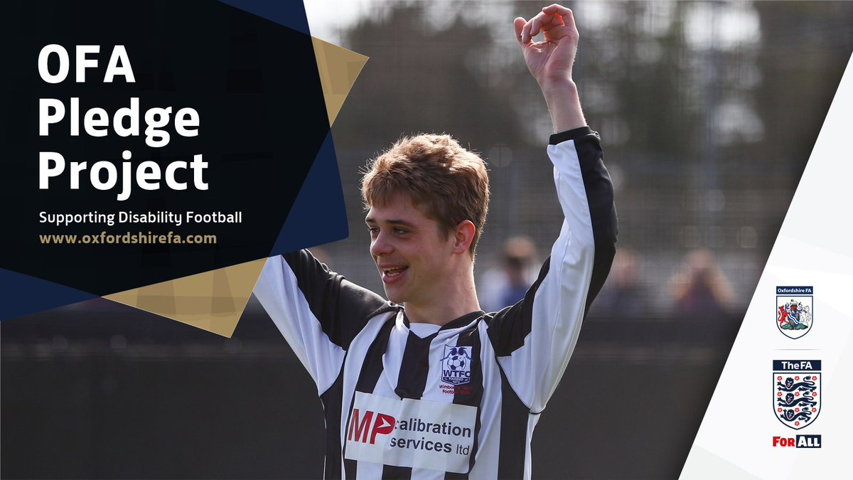 RT @OxfordshireFA: DID YOU KNOW | Anyone across #Oxfordshire can sign up to the Pledge Project.   All grassroots clubs and leagues are asked to pledge their support in promoting disability football.  More information ➡️ https://t.co/bq5Tvmuxln