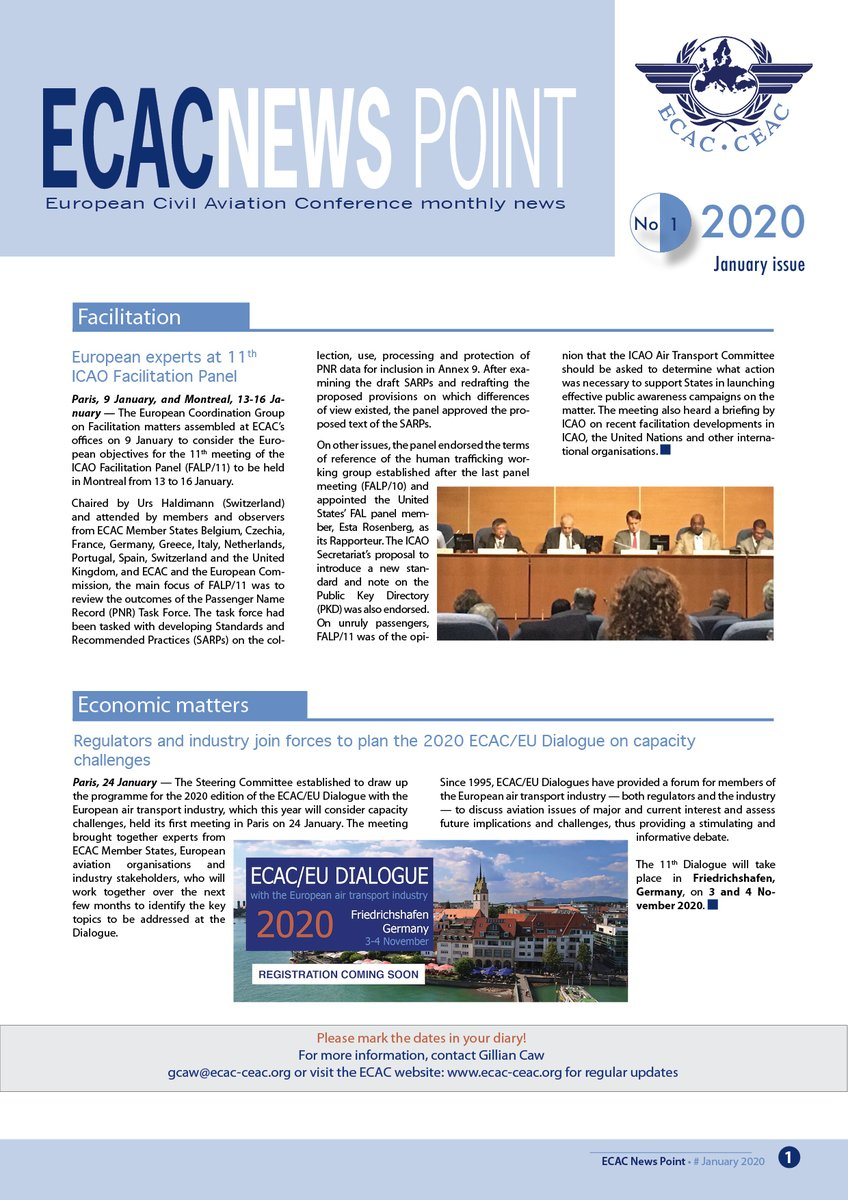 You can find out more about ECAC's January activities in the monthly News Point, out now! https://www.ecac-ceac.org/newspoint?p_p_id=CEACMagazine_WAR_CEACMagazineportlet&p_p_lifecycle=0&p_p_state=normal&p_p_mode=view&p_p_col_id=column-1&p_p_col_pos=2&p_p_col_count=3&_CEACMagazine_WAR_CEACMagazineportlet_docUrl=https%3A%2F%2Fwww.ecac-ceac.org%2Fdocuments%2F10189%2F37370%2F2020-NewsPoint-01.pdf%2Fbc5b8e8f-5aa3-45ca-9df8-670c6bfe1081%3Fversion%3D1.0%26previewFileIndex%3D…