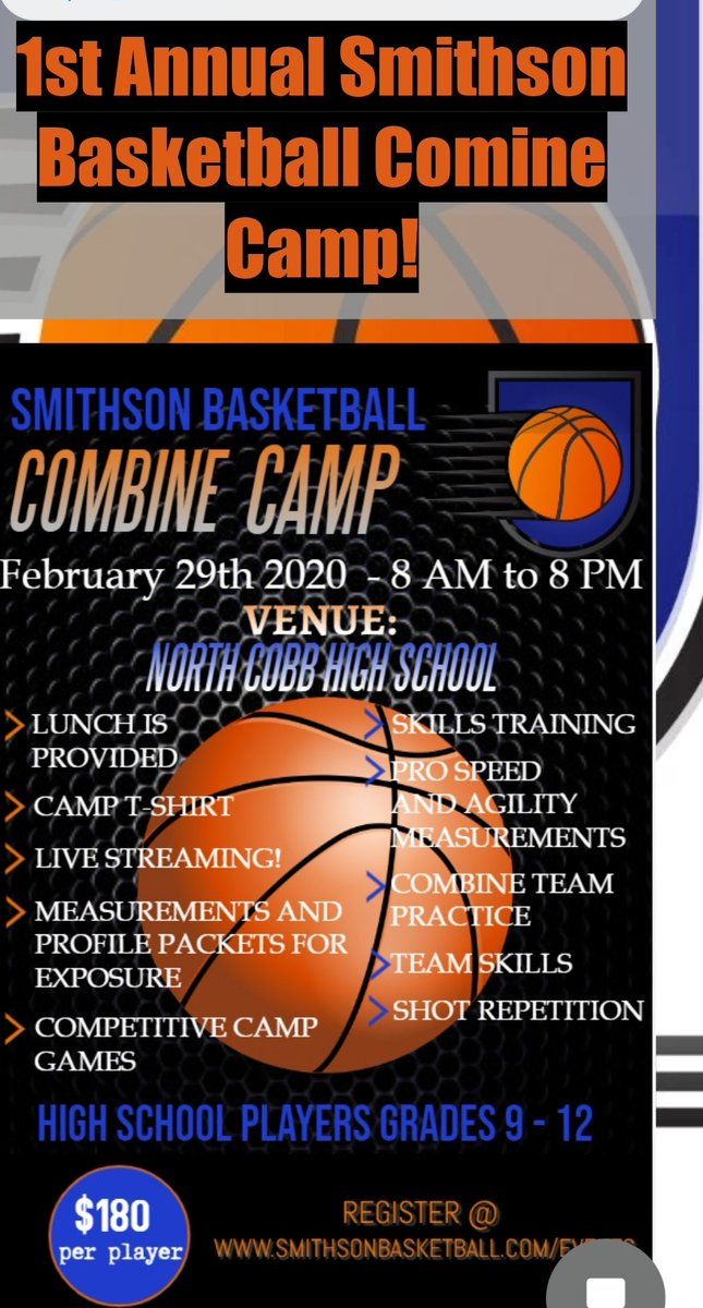 Get in! Seasons are ending and spring and summer ball is starting. Come get in the combine camp! Come to compete #createurgame @CTCAthletics @KyleSandy355 @ATLXpress2023 @SBT_hoops @HawksEliteAAU https://t.co/sjoZcDAoDX