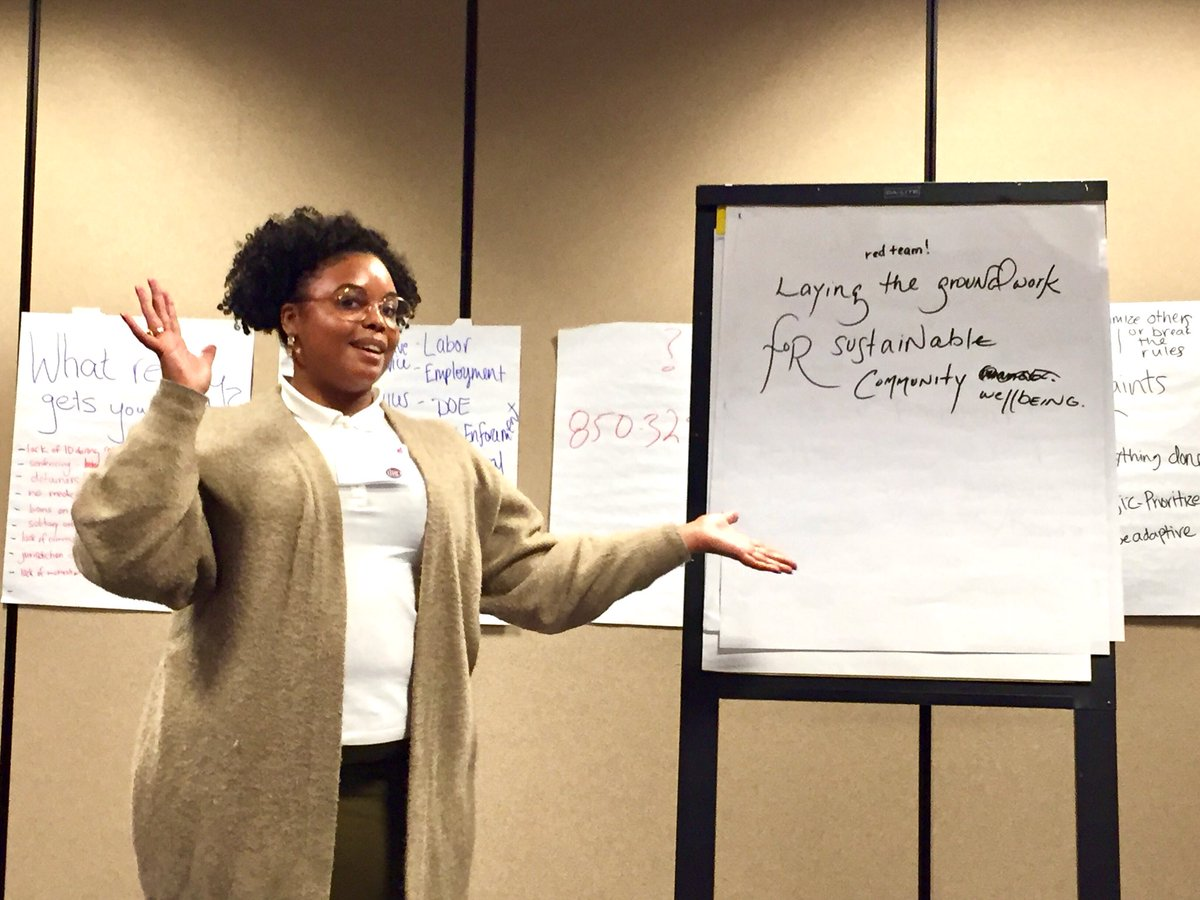 Vision setting, part 2b: Each small group chose a delegate to present their final vision!
