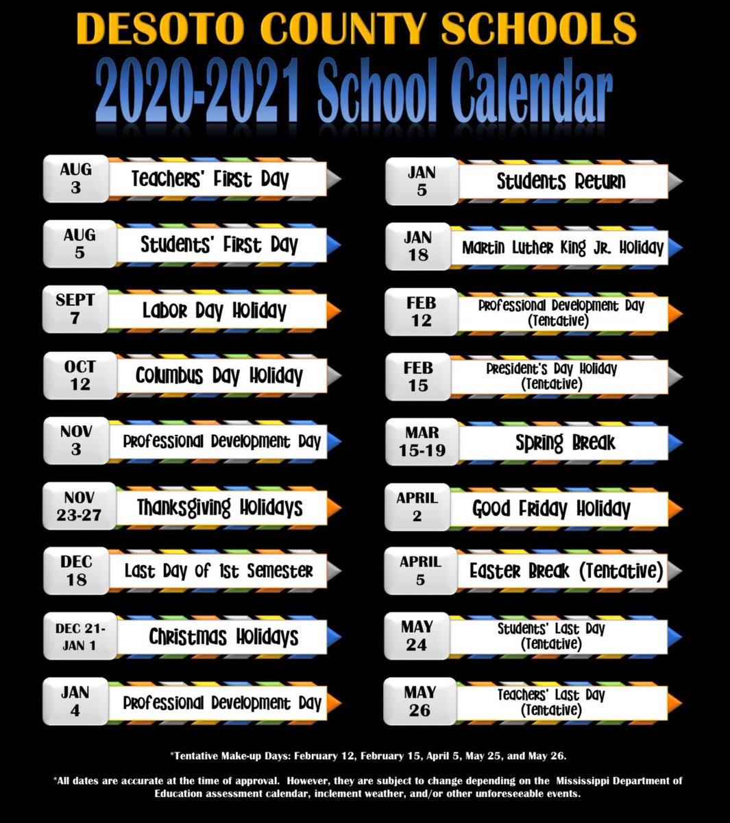 2020 Christmas Break Desoto County Schools Gayle Whiteside (@GayleWhiteside)   Twitter