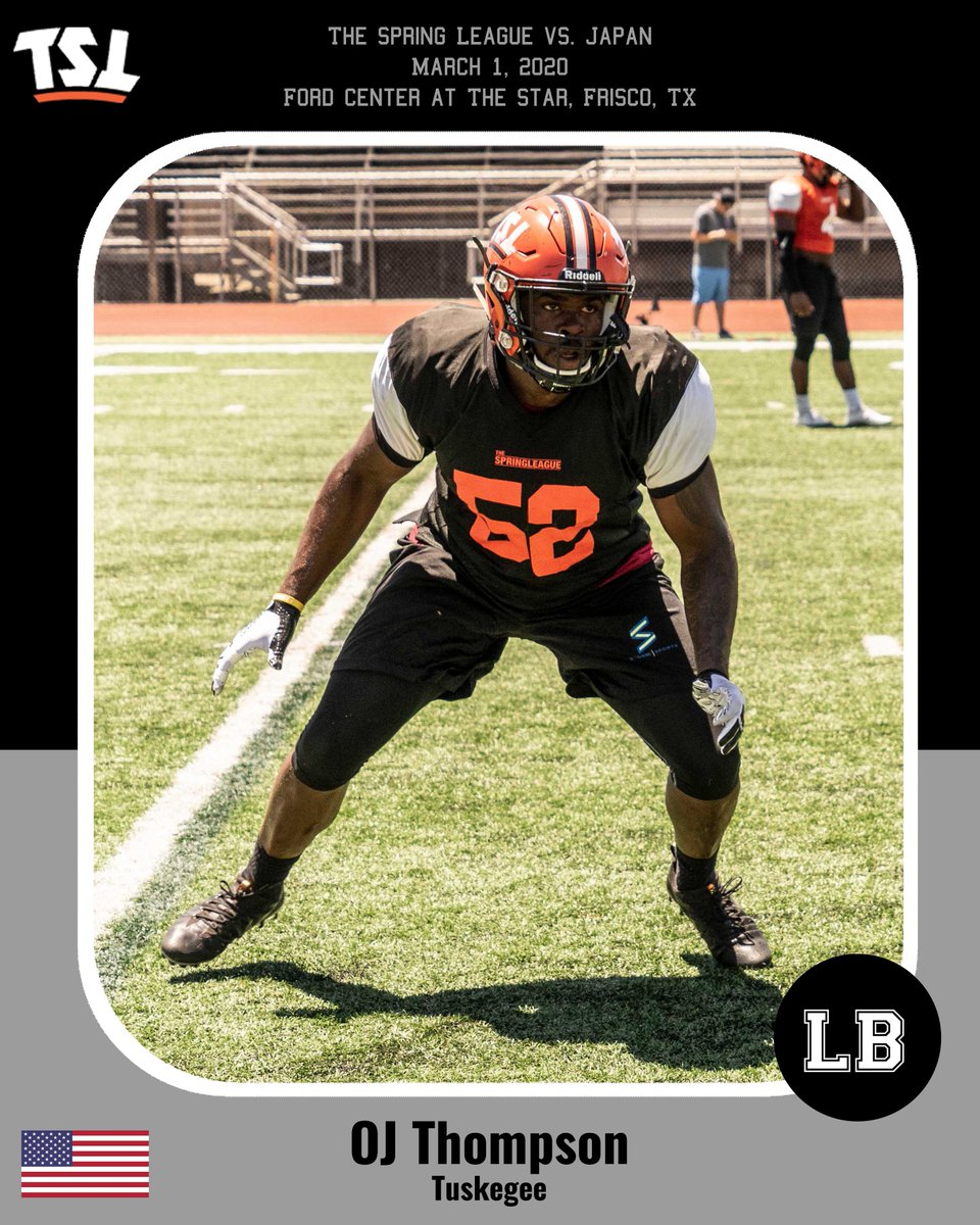 LB OJ Thompson will be anchoring the defense against #Japan on March 1 in Frisco.   @MyTimeToBall was selected as a first team linebacker in the 2017 American Football Coaches Association All-America Team and played at #TSLShowcase Orange County II in 2019. pic.twitter.com/F0p69gDyX6