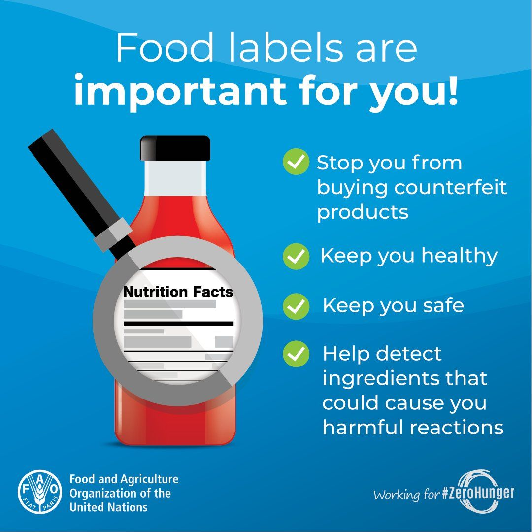 Why food labels are important 👇 #foodsafety #healthydiets #SDGs