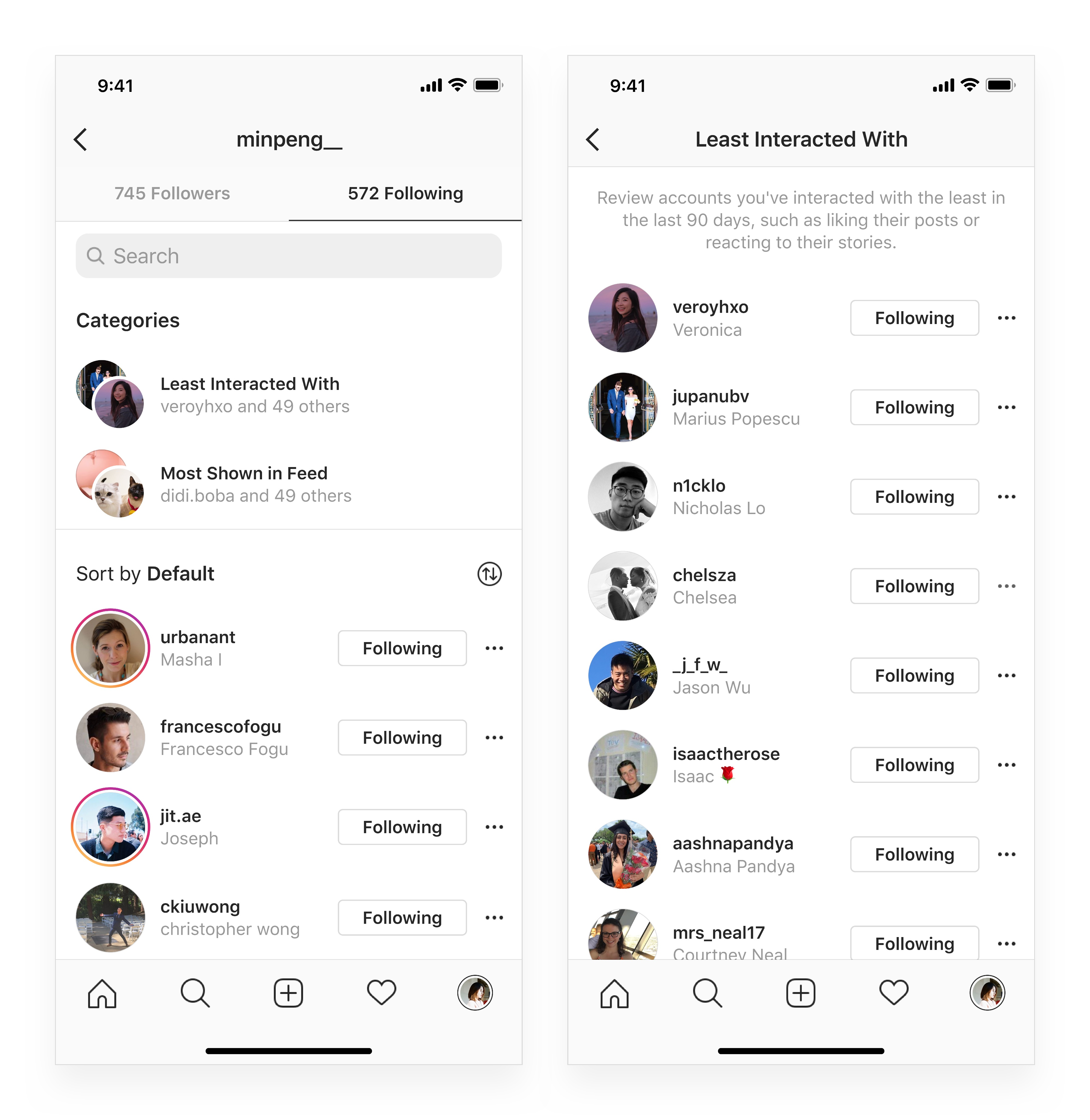 Instagram now shows who you interact with the most and least_1
