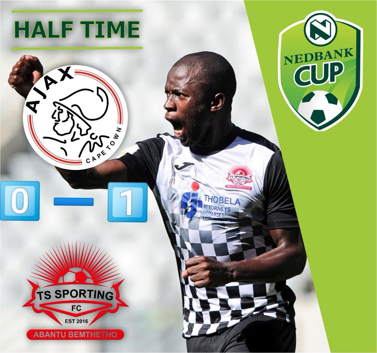 ts sporting fc on twitter 452 half time. we go to the
