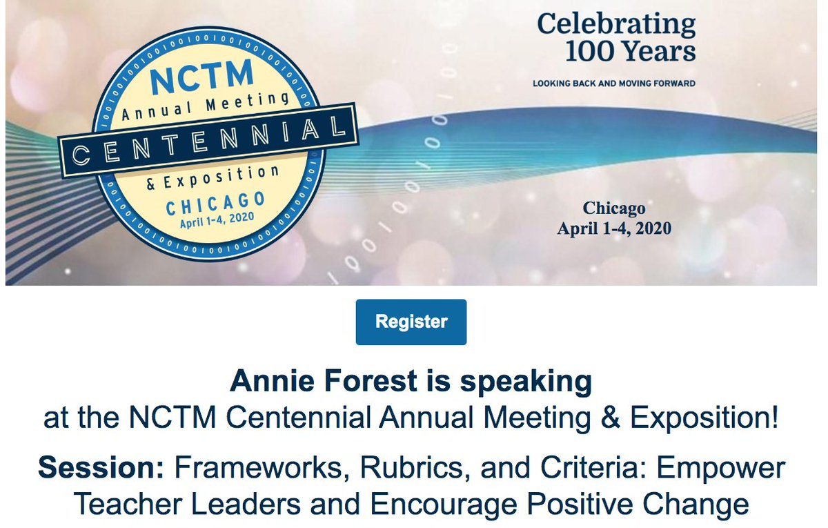 Excited to be speaking at @NCTM Centennial Conference in Chicago! #NCTM100 l.feathr.co/nctm---centenn…