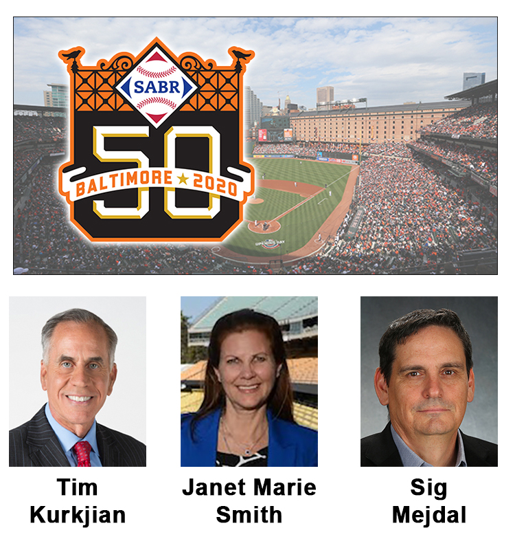 @HyattBaltimore @Orioles @BabeRuthMuseum At #SABR50 this summer in Baltimore, we're thrilled to welcome @Kurkjian_ESPN, Camden Yards visionary @SmithJanetmarie, and @Orioles' Sig Mejdal as featured speakers! Sign up today to join us: https://t.co/50KsQrOi3Z https://t.co/edtdsjnpoC