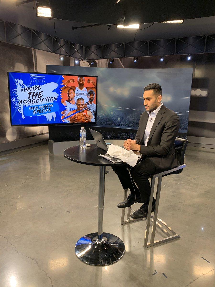 NBA trade deadline show started on @Stadium. twitter.com/i/broadcasts/1…