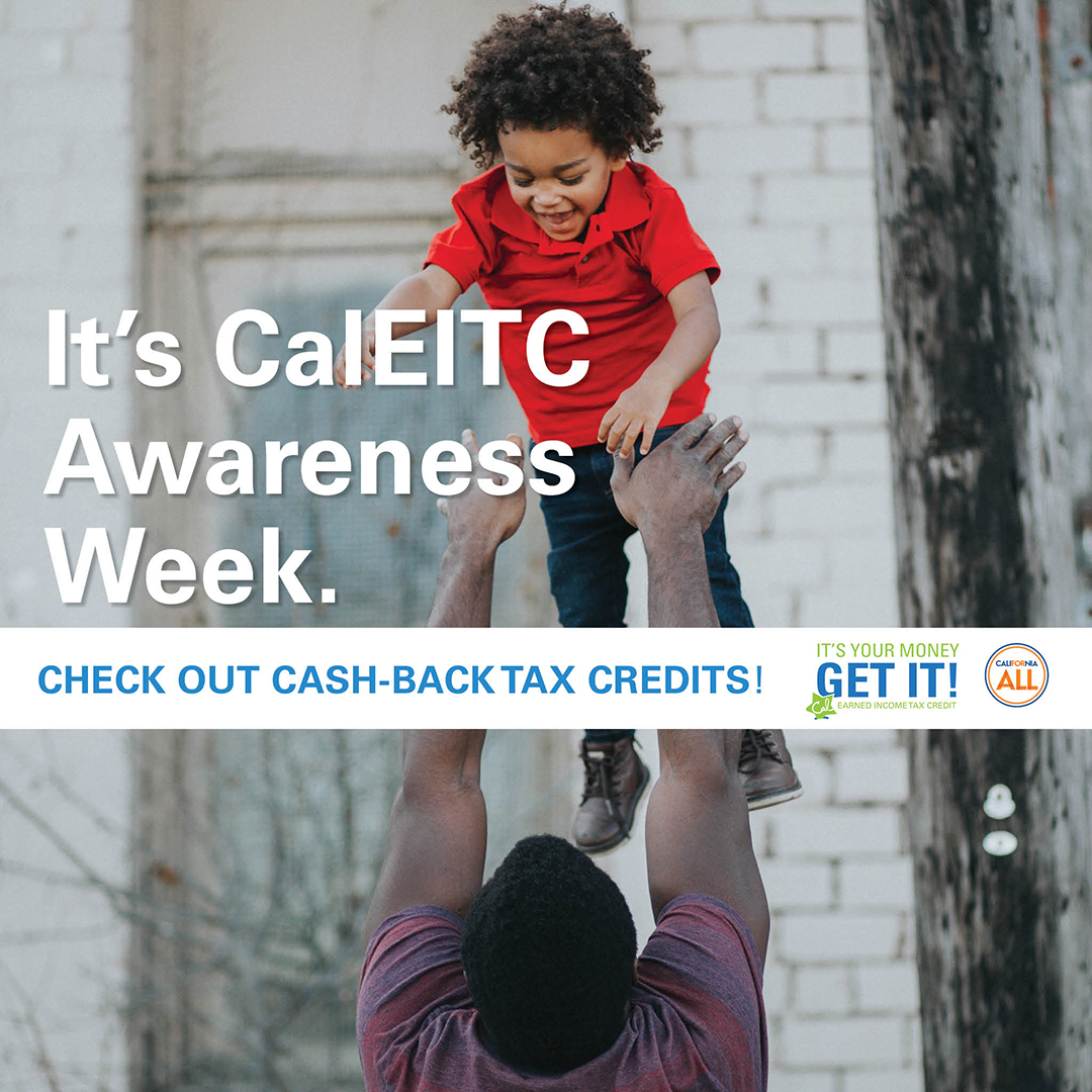It's #CalEITCWeek! Put more $ back in your pocket this tax season w/the expanded California Earned Income Tax Credit, new Young Child Tax Credit, & federal Earned Income Tax Credit. Learn more:https://t.co/JS6OFK8Z54 #CalEITC #EITC #CaliforniaForAll #theirfuturefirst https://t.co/PXKYoVcTDR
