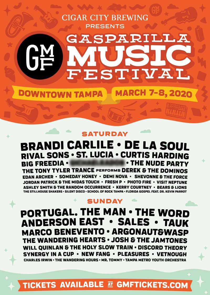 See you in a month, Tampa. We're playing @GasparillaMusic on Sun, 3/8! Tickets at https://t.co/xbxL0B56uN https://t.co/x31EMXXiyO