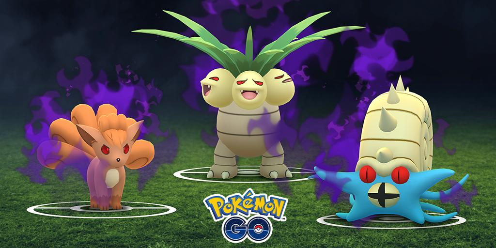 Whoa! Even more Pokémon have been transformed into Shadow Pokémon by #TeamGORocket! Nooo, Exeggutor! Not you, too! 😈🌴😈
