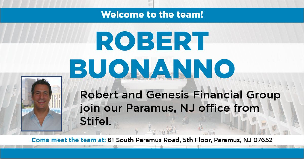 Welcome to the team, Robert Buonanno!