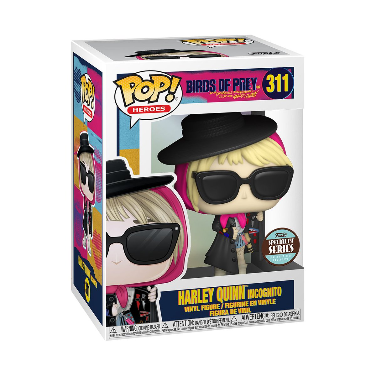 RT & follow @OriginalFunko for a chance to WIN a Specialty Series Harley Quinn (Incognito) Pop!  #Funko #FunkoPop #Giveaway #BirdsOfPrey #BOP #HarleyQuinn