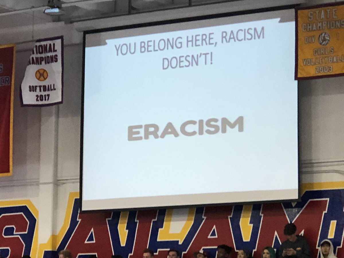 Big THANK YOU and gratitude to @LosAlamitosHigh  for talking race and racism today! #upstander #erasehate #eliminateracism. Let's all be the change we want to see to end racism! <br>http://pic.twitter.com/FO0yY0WLyx