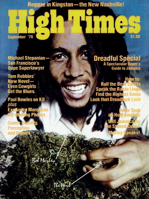 Happy Birthday to the legend - Bob Marley. High Times. September 1976.