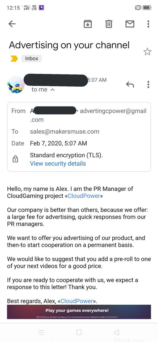 What is it with the huge increase of fake company sponsorship requests??? This company clearly doesn't exist. What's the end game?