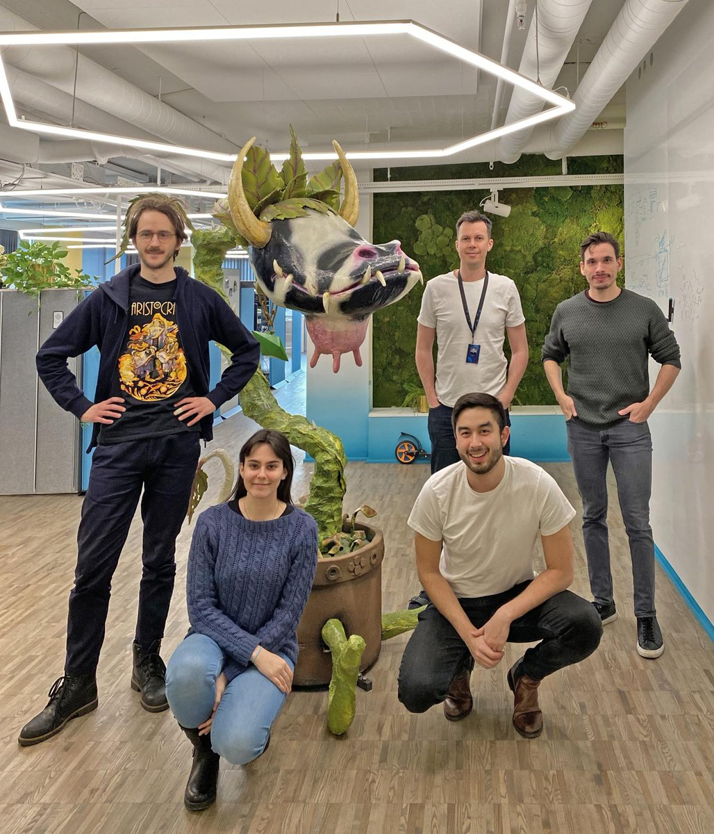 Parts of our Deep Learning team are welcoming our newest Stockholm office team member - Let us introduce....  The Cow Plant from The Sims!  #TheSims20thBirthday #WeAreSEED #WeAreEA #DeepLearning #MachineLearning