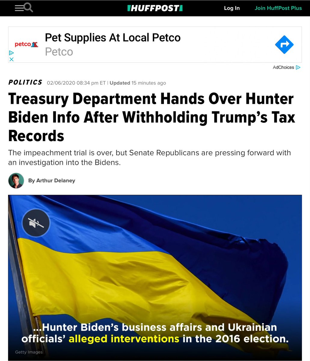 """When Sec. Mnuchin blocked a request for the president's taxes he said """"The legal implications of this request could affect protections for all Americans against politically-motivated disclosures of personal tax information, regardless of which party is in power"""" #HunterBiden"""