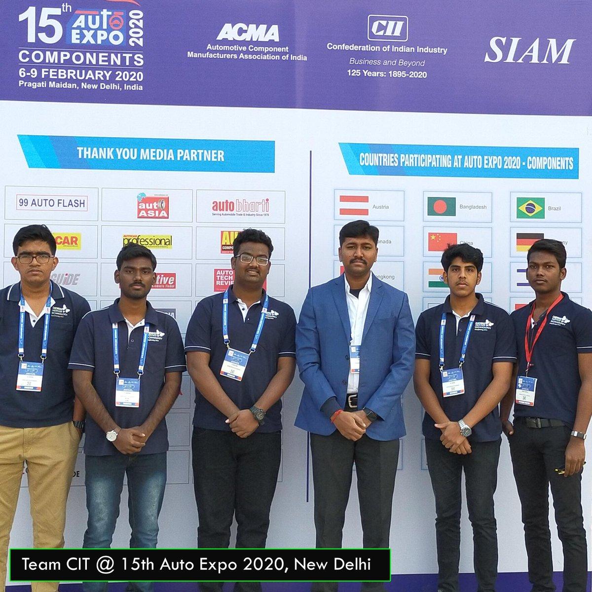 CITians @ Autoexpo 2020, NewDelhi #CITChennai #ChennaiInstituteOfTechnology #Autoexpo #IndustryConnectedInstitutepic.twitter.com/RhqhPV41Ar