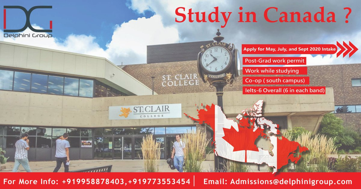 Study in Canada?  Call on +91 9958878403, +91 97735 53454 or  Email on Admissions@delphinigroup.com  #studyincanada #studyineurope #studyabroad #studyoversease #education #europe #abroadstudy pic.twitter.com/fjjQlcbQJL