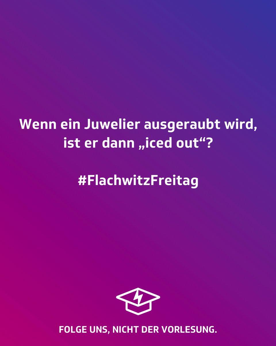 #Flachwitzfreitag   #studentenstoff #flachwitzfreitag #flachwitz #achtungflach #flach #derkommtflach #kalauer #füßehoch #jodeldeutschland #universität #studenten #studentenleben #humor #lachen #lustig #witzig #studium #vorlesung #studieren #sprüche #unileben #dualerstudent pic.twitter.com/byWgOndf3M