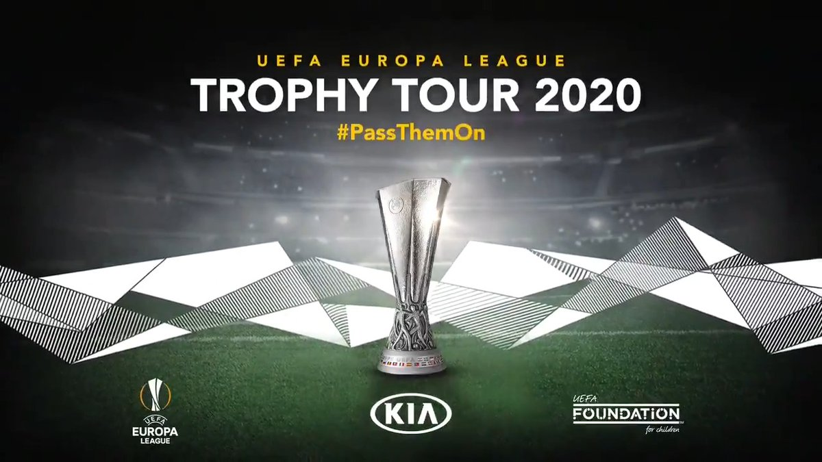 🇩🇪 🇪🇸 🇮🇹 🇳🇱 🏴 🇵🇱 6⃣ cities. 4⃣ months. 1⃣ aim: to donate as many boots as possible to the Zaatari refugee camp. The @EuropaLeague Trophy Tour, Driven by Kia, is back! #PassThemOn #UELTrophyTour #Driven by Kia #UEL #KiaHomeOfFootball
