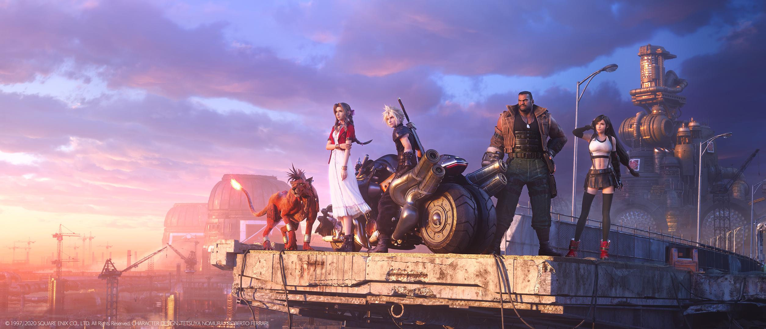 Final Fantasy Vii Remake Le Fond D Ecran Parfait En Une Image Avec Cloud Barret Aerith Tifa Et Rouge Xiii Gamergen Com