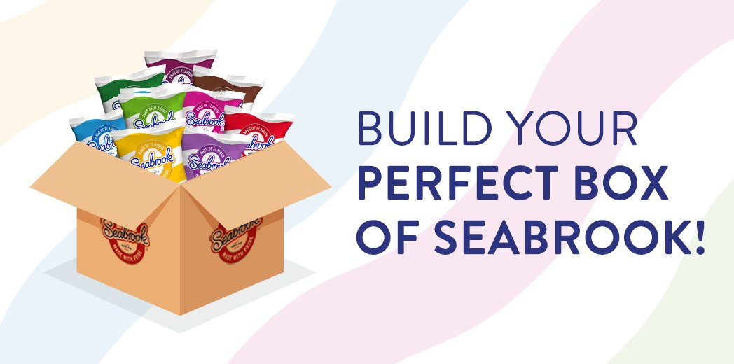 Did you know that you can build and customise your very own box of crisps on our website? Start building your perfect box today: seabrookcrisps.com/build-a-box