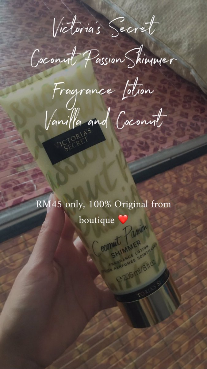 Selling Original Victoria Secret Fragrance Lotion for only RM45! Original from boutique. Dm me fast ❤️