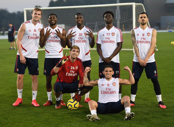 Boost For Mikel Arteta as injured Arsenal player is back in training session in Dubai