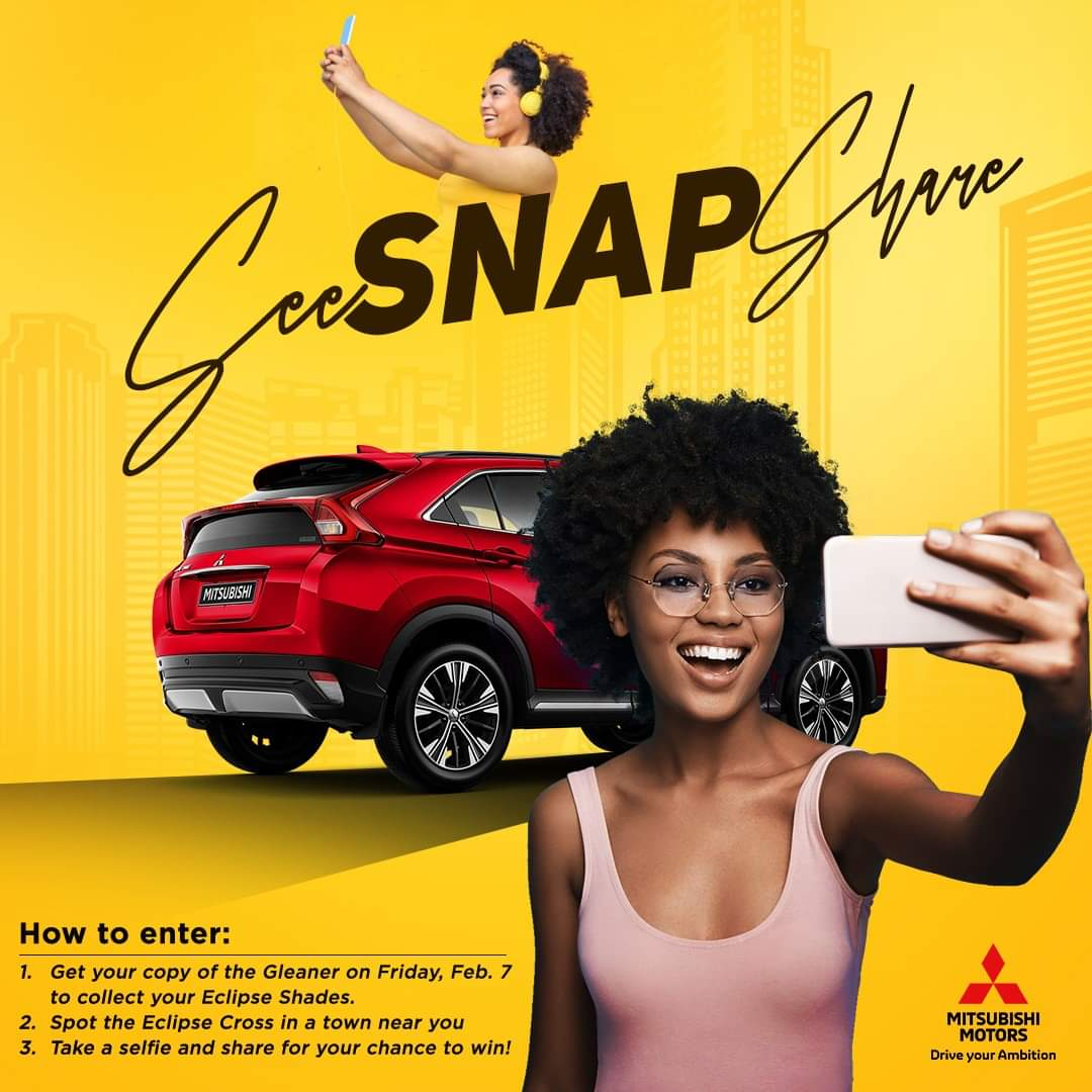 See, Snap and Share with the Mitsubishi Eclipse Cross Selfie Competition!  Get today's @JamaicaGleaner to get your Eclipse Shades and visit our partner locations to enter!  Info and locations at: https://t.co/x7cJy2yC4B *Competition runs from February 7-8, 2020 *Conditions Apply https://t.co/1Ul4nAWftb