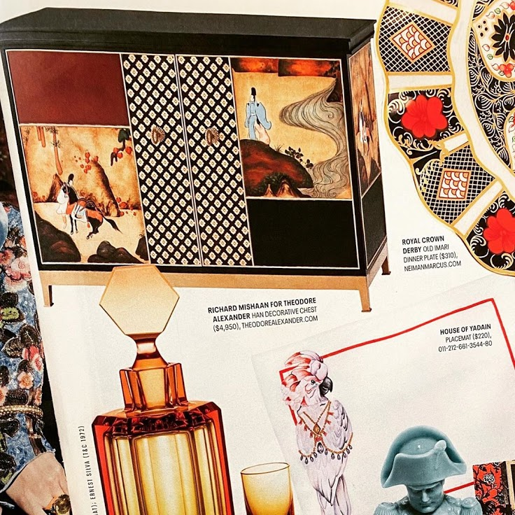 Spotted  in @townandcountrymag, our hand painted and gilt Chinoiserie Han decorative chest from the Richard Mishaan collection. #Repost @richardmishaan    #handpainted #instadecor #livingroom #luxuryfurniture #theodorealexander #magazine #cabinetry #luxurydecor #hpmkt2020pic.twitter.com/ndZMGpoioK