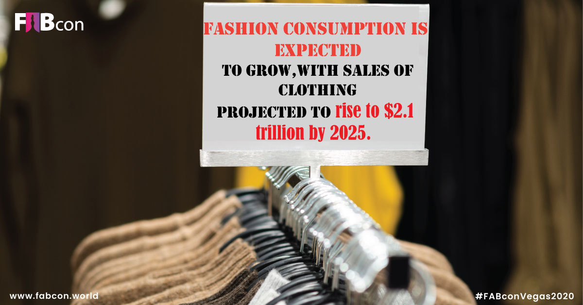 """""""Fashion consumption is expected to grow, with sales of clothing projected to rise to $2.1 trillion by 2025."""" #FashionUpdates #FashionFriday #FashionFacts #ClothingStyle #LatestFashionNews #FashionStats #Shoppingpic.twitter.com/q3P30QBkfj"""