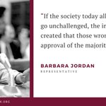 Image for the Tweet beginning: Congresswoman Barbara Jordan provided a
