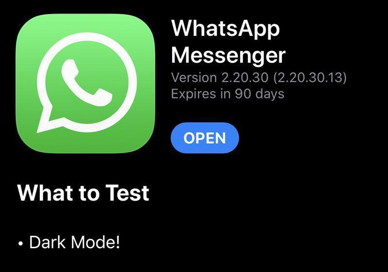 WhatsApp dark mode for iPhone arrives in latest beta