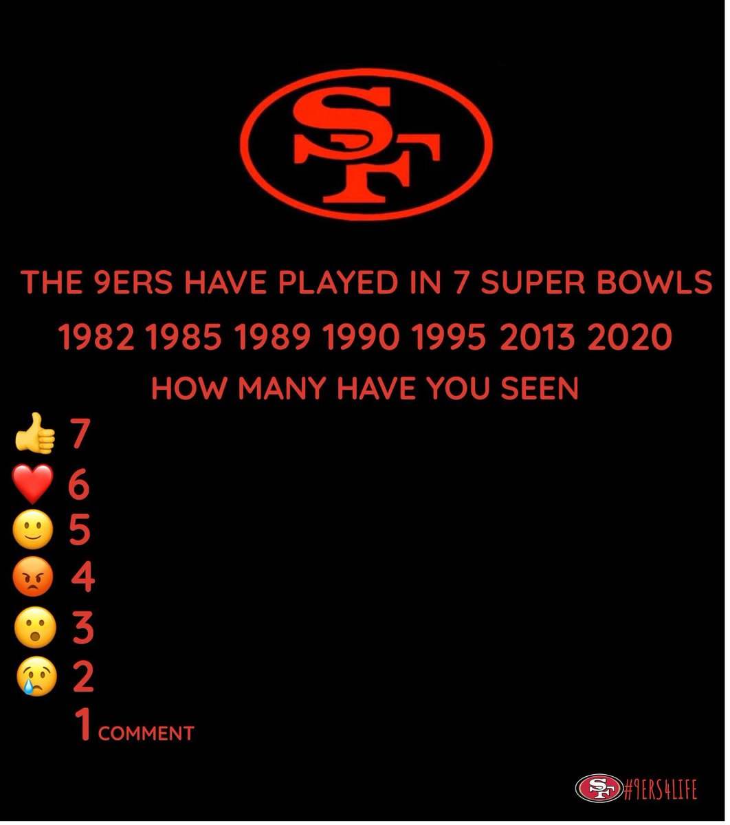 I saw all 7 how many did you see  #nfl #football #superbowl  #sports #49ers #sanfrancisco #nflplayoffs #playoffs  #nfc   #red #gold #5rings #5timesuperbowlchamps  #Niners #Ninerfaithfuls #ninergang #Ninerempire #QuestForSix #GoNiners #Playoffs  #SuperBowlBound pic.twitter.com/rupSMC1tyB