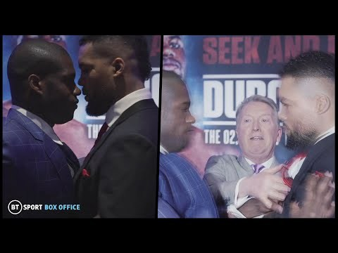 Words exchanged! Daniel Dubois pushes Joe Joyce after heated face off😳 youtube.com/watch?v=5eEzAH…