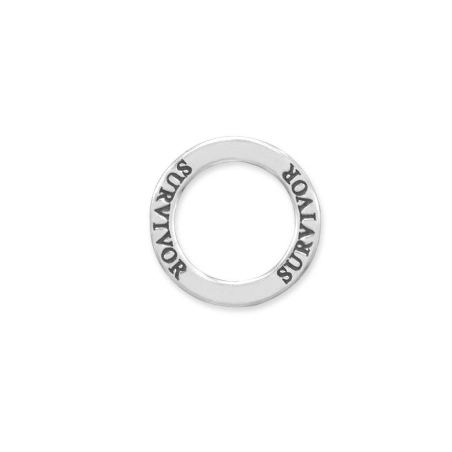 "Survivor Pendant, Open Circle Floating ""Survivor"" Pendant, Inspirational Gift, Encouragement and Support, Modern Jewelry, Get Well Gift  #jewelrymandave #Etsy #ModernJewelry"