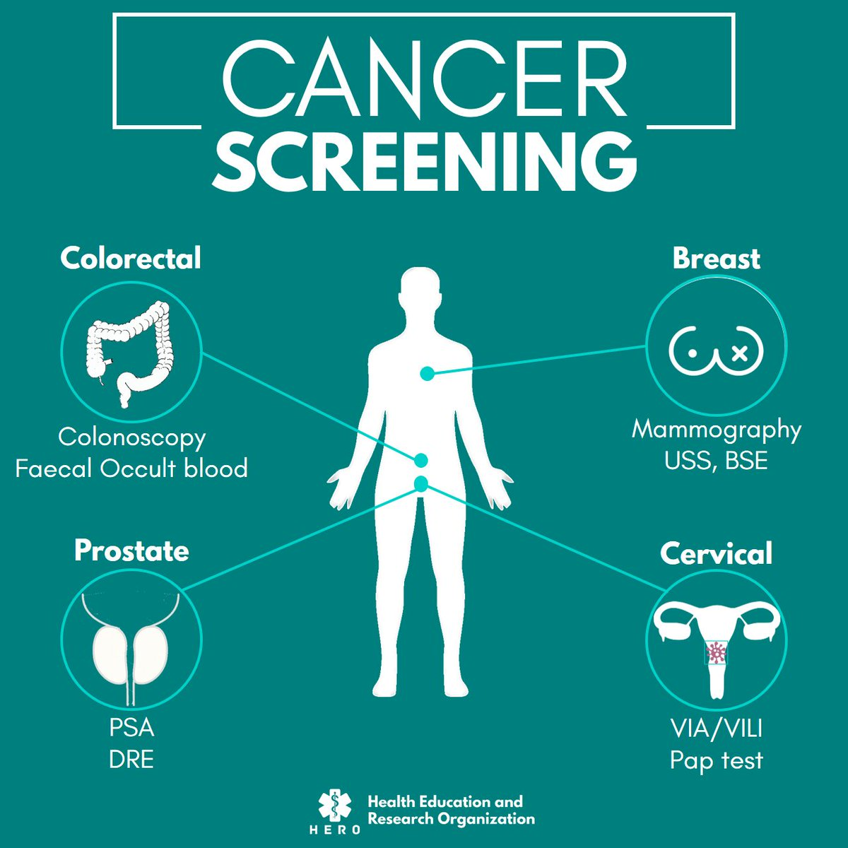 Hero Cameroon Auf Twitter Hello People Dyk Screening Is Checking Your Body For A Disease Before Symptoms Appear Cancers For Which Screening Has Proven To Be Effective Include Breast Cancer Prostate Cancer