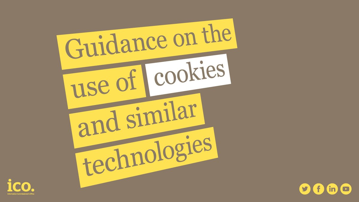 You must tell people if you set cookies, and clearly explain what the cookies do and why. You must also get the user's consent. Consent must be actively and clearly given. More cookies guidance here: ow.ly/lSN150y8Y9s #fintech #ukbizlunch