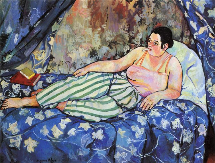 The Blue Room   -1923, Suzanne Valadon   #art #paintings #suzannevaladon