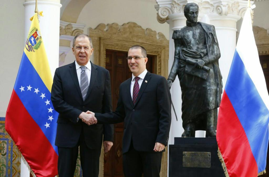 Jorge Arreaza received Sergey Lavrov.