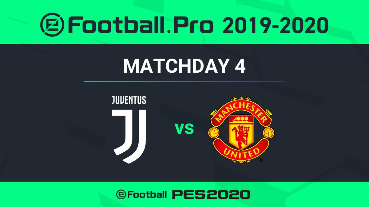 🔜 MATCHDAY 4️⃣ of the @Konami @officialpes @eFootballPro League:  ⚪️⚫️ Juventus 🆚 @ManUtd 🔴  💻🎮 LIVE from 14:55 CET, Saturday on http://YouTube.com/Juventus